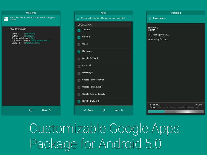 [NON MIS À JOUR][GOOGLE APPS PACKAGES] Centralisation des packages d'applications Google | GApps 142773691276031