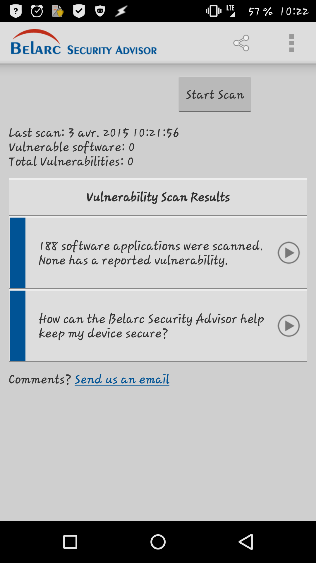 [APPLICATION ANDROID - SECURITY ADVISOR] Scan de sécurité de vos applications [Gratuit] 142803691270219