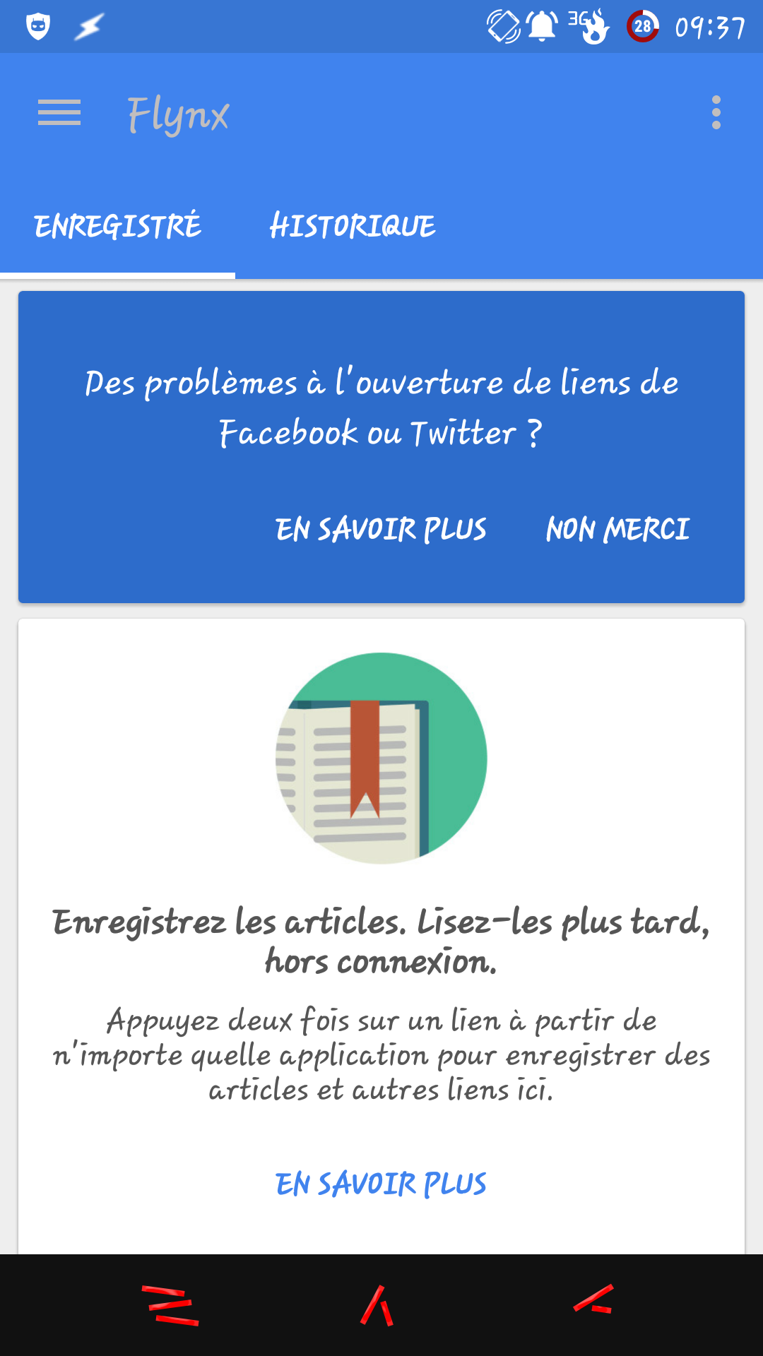 [APPLICATION ANDROID - FLYNX] Lire le web plus intelligemment avec Flynx 143323691271218