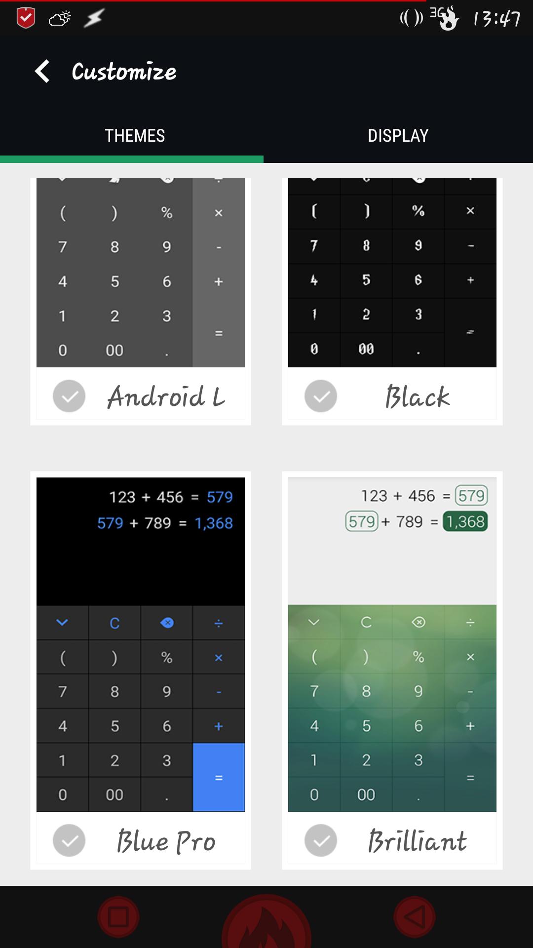 [APPLICATION ANDROID - CALC+] Une calculatrice différente avec plus de 15 thèmes [Gratuit] 144342351761144