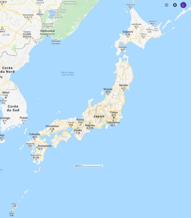 Carte-japon