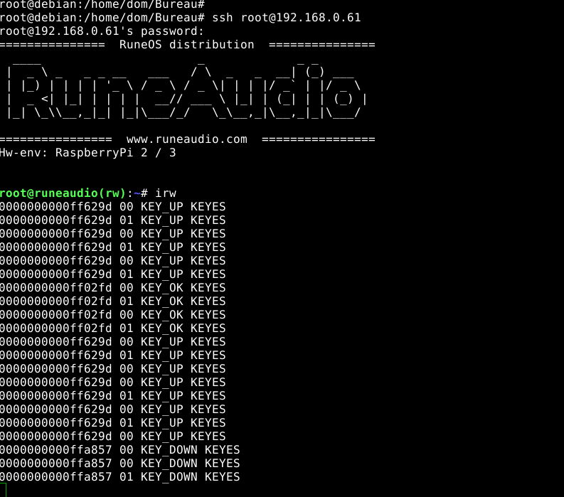 RuneAudio_rpi2_rp3_0 4-beta_20170229_2GB + IR REMOTE(KEYES