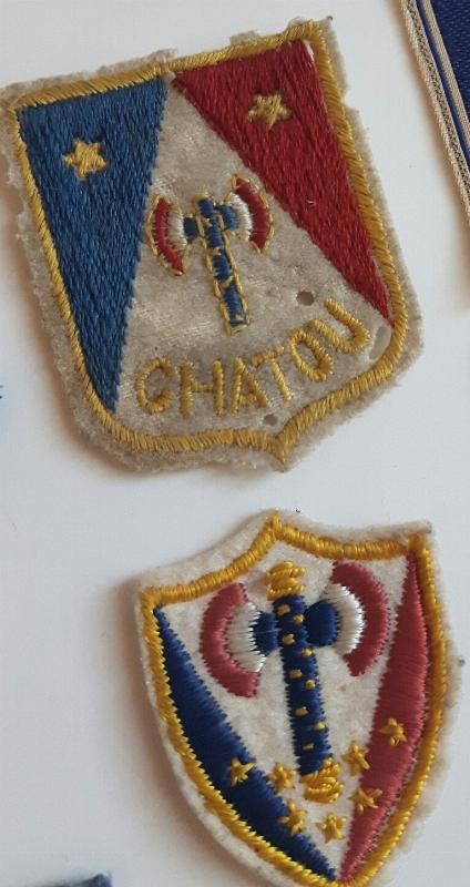 2 insignes tissus petain francisque  15211265941501663544