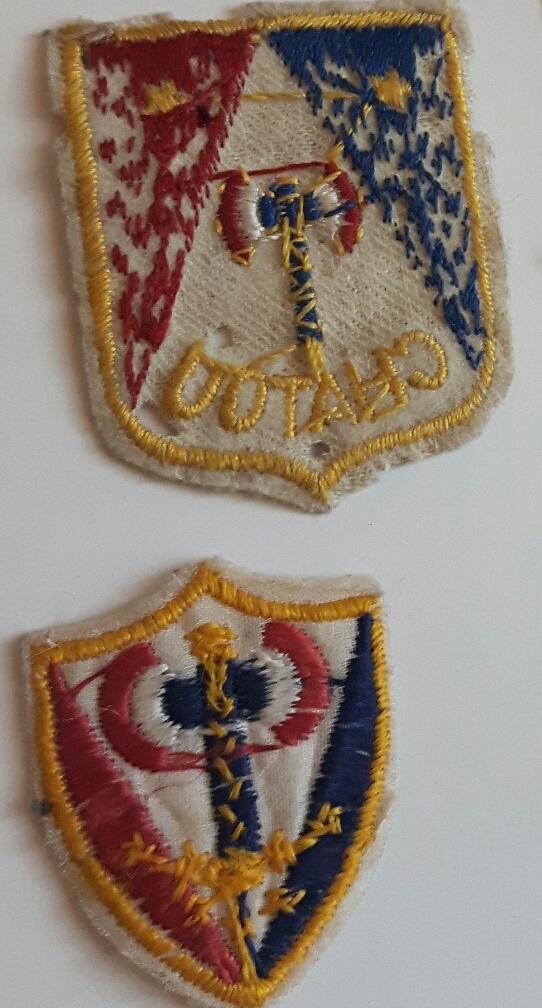 2 insignes tissus petain francisque  1521126671642399856